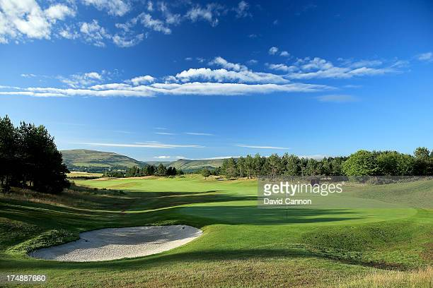 View from behind the green on the 320 yards par 4, 14th hole 'Nebit Knowe' on The PGA Centenary Course at The Gleneagles Hotel Golf Resort will be...
