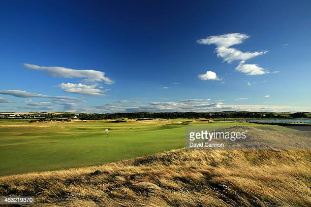 A view from behind the green on the 371 yards par 4 7th hole on the Old Course at St Andrews venue for The Open Championship in 2015 on July 29 2014...