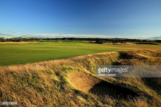 View from behind the green on the par 4, 10th hole on the Old Course at St Andrews venue for The Open Championship in 2015, on July 29, 2014 in St...