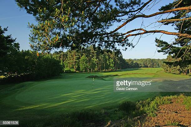 A view from behind the green on the par 4 12th hole on the Old Course at Sunningdale Golf Club on June 01 2005 in Sunnungdale England