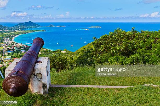 view from belair, carriacou - grenada invasion stock photos and pictures