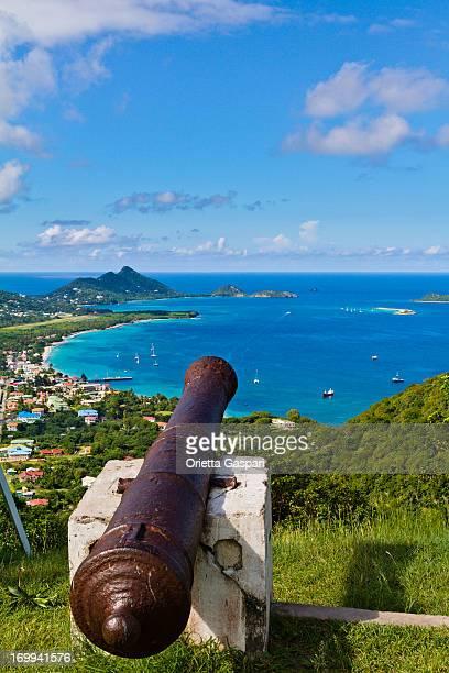 vista desde belair, carriacou - paisajes de isla de  granada fotografías e imágenes de stock