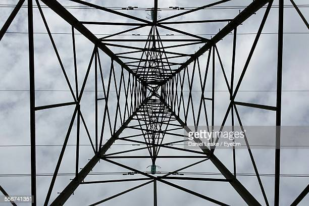 View From Below Of Electricity Pylon