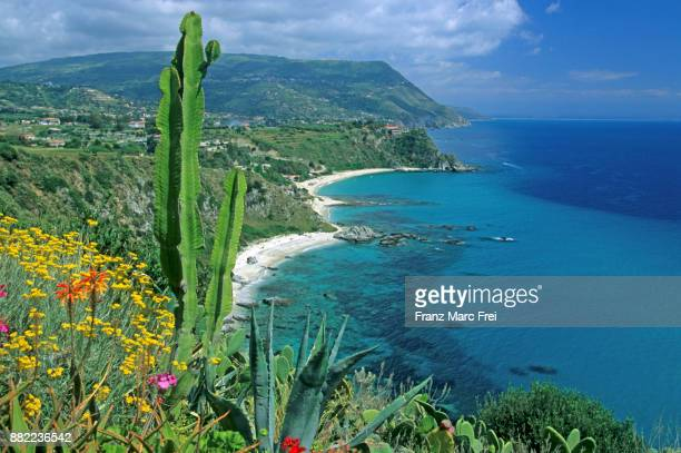 view from belvedere, capo vaticano, golfo di gioia, calabria, italy - calabria stock pictures, royalty-free photos & images