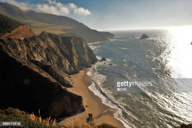 view from bixby bridge - monterrey stock pictures, royalty-free photos & images