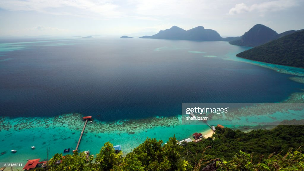 View from Bohey Dulang, Malaysia. : Stock Photo