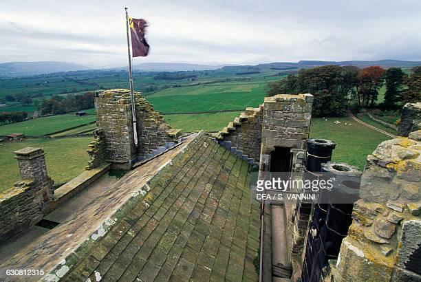 View from Bolton Castle near Leyburn North Yorkshire England United Kingdom 14th century