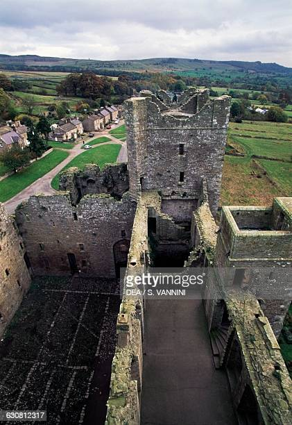 View from Bolton Castle tower near Leyburn North Yorkshire England United Kingdom 14th century