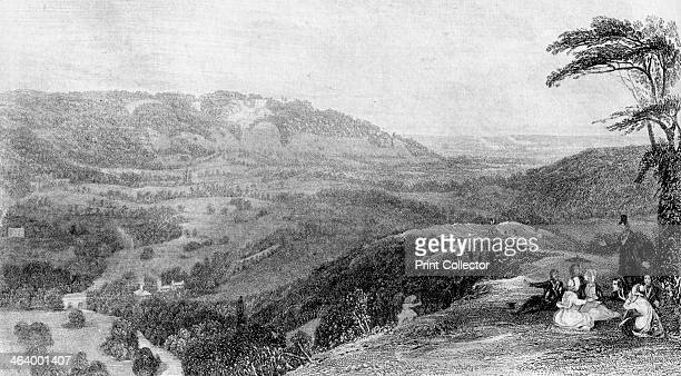 View from Box Hill looking towards Norbury Surrey 19th century