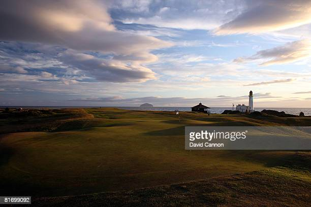 A view from brhind the green on the 452 yds par 4 9th hole on the Ailsa Course at the Westin Turnberry Resort the venue for the 2009 Open...
