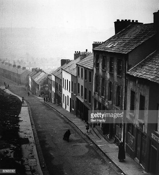 A residential street in Belfast Original Publication Picture Post 8199 One Man In Five Is Out Of Work pub 1955