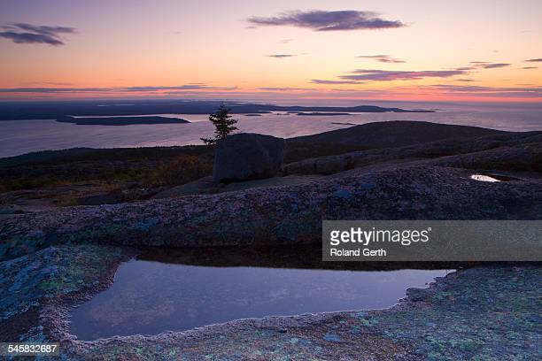 view from cadillac mountain at dusk - en:public_domain stock pictures, royalty-free photos & images