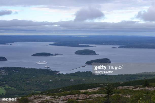 view from cadillac mountain bar harbor, maine - tammy bar stock pictures, royalty-free photos & images