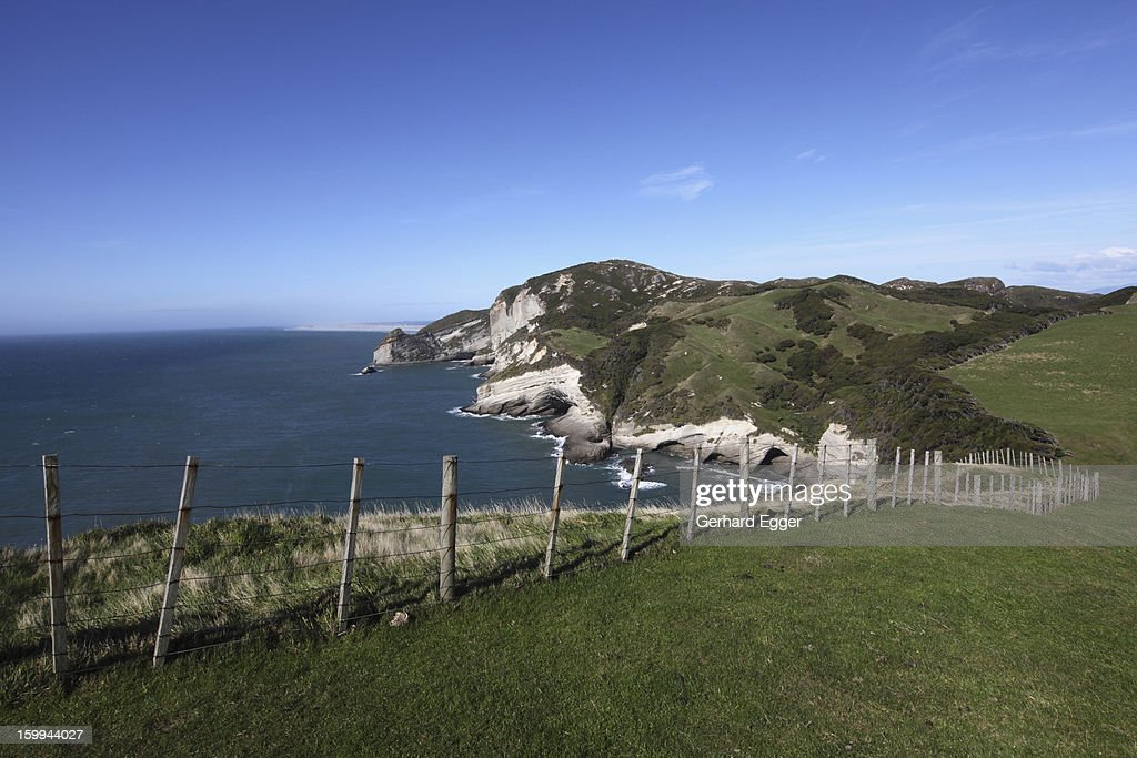 View from Cape Farewll towards Farewell Spit : Stock Photo