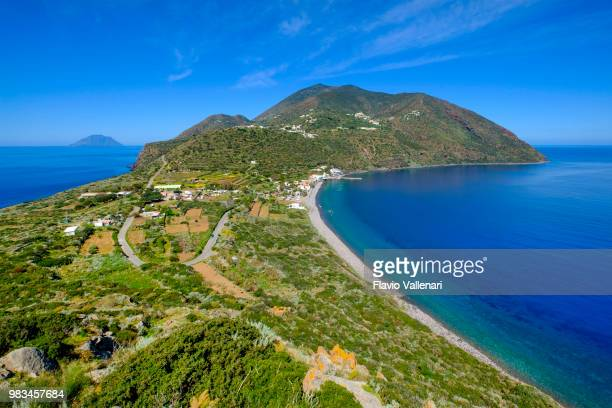view from capo graziano in filicudi, one of the islands of the aeolian archipelago (sicily, italy) - aeolian islands stock pictures, royalty-free photos & images