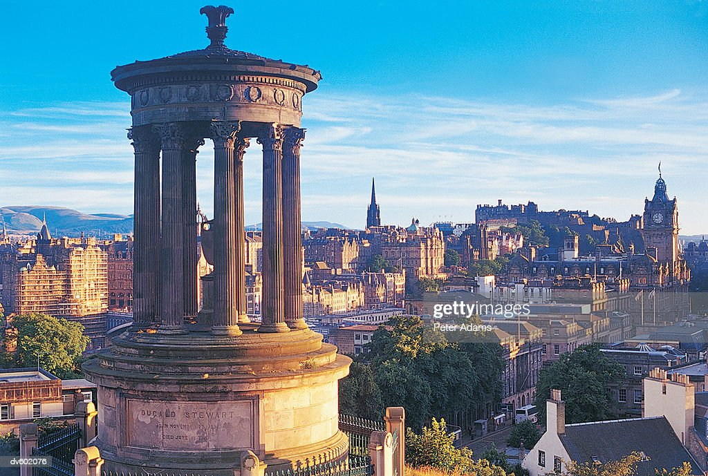 View From Carlton Hill, Edinburgh, Scotland, UK : Stock Photo
