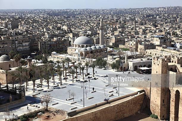 view from citadel, aleppo, syria - アレッポ市 ストックフォトと画像
