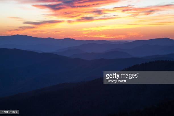 view from clingman's dome great smoky mountains - clingman's dome - fotografias e filmes do acervo