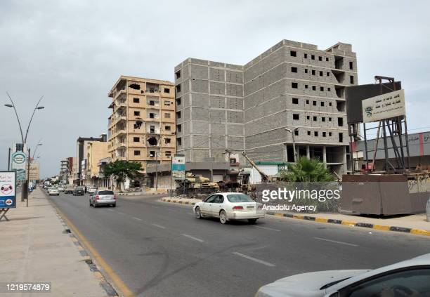 View from coastal and commercial city of Libya, Misrata on June 12, 2020. In the city, it is still possible to see the traces of damage caused by...