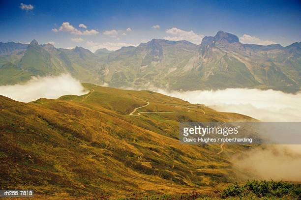View from Col d'Aubisque, Pyrenees-Atlantique, Pyrenees, Aquitaine, France, Europe