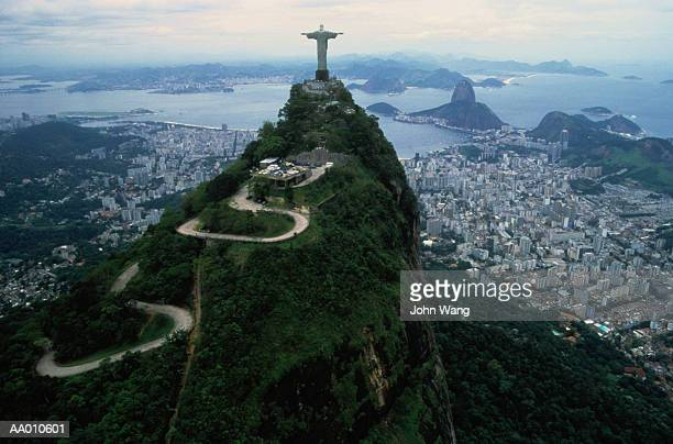 view from corcovado in rio de janeiro, brazil - jesus christ photos et images de collection