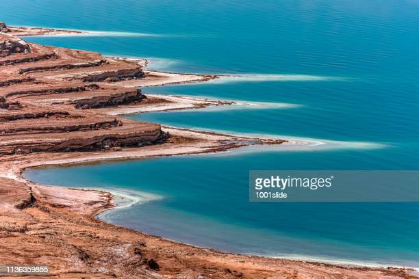 view from dead sea - jordan stock pictures, royalty-free photos & images