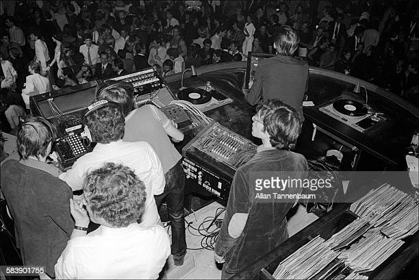 View from DJ booth at the reopening of Studio 54 New York New York October 9 1979
