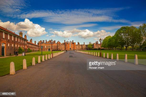 View from entry gate at Hampton Court Palace London.