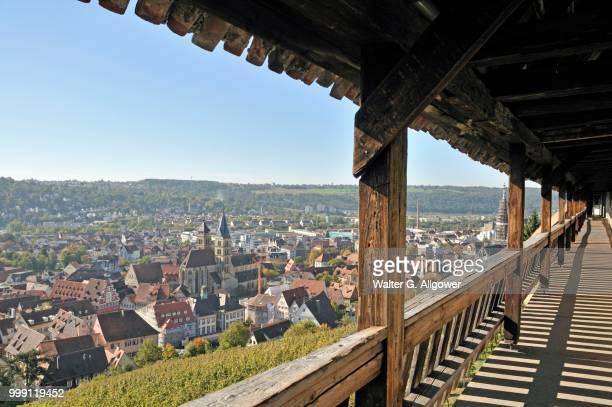 View from Esslinger Burg Castle over Esslingen am Neckar, Baden-Wuerttemberg, Germany