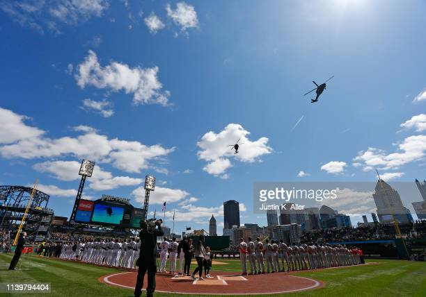 View from field level before the game between the Pittsburgh Pirates and the St. Louis Cardinals on Opening Day at PNC Park on April 1, 2019 in...