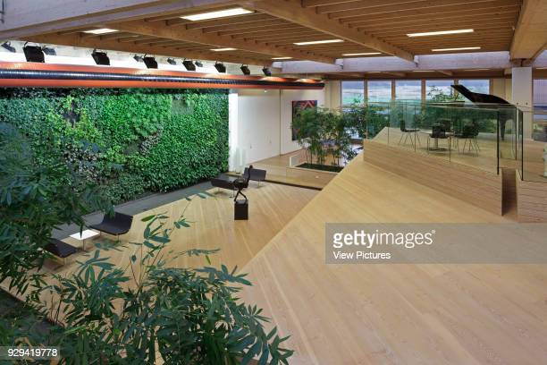 View from first floor towards foliage covered green wall IBC Innovation Factory Kolding Denmark Architect schmidt hammer lassen architects 2012