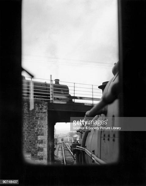 View from from the cab window of one of the locomotives Photograph by Bishop Eric Treacy Treacy was often allowed special access to many areas denied...