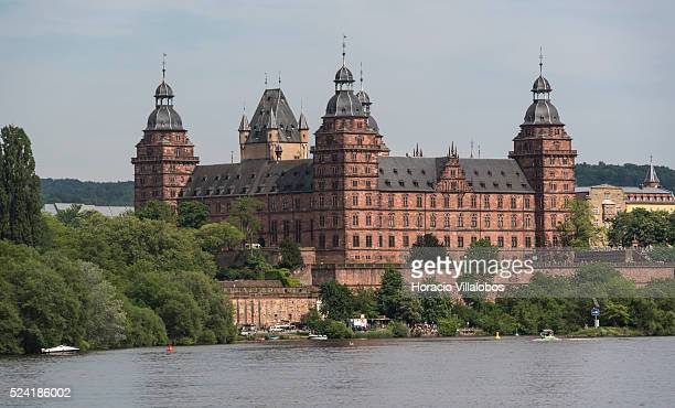 View from from the Main river of Schloss Johannisburg in Aschaffenburg Germany 14 May 2015 one of the most important buildings of the Renaissance...