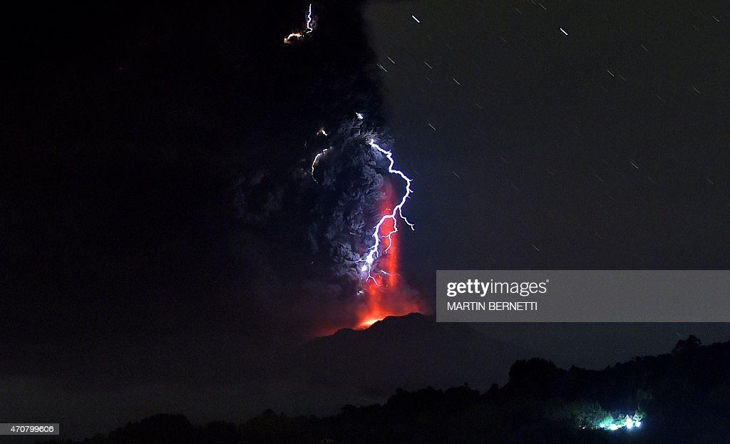 CHILE-VOLCANO-CALBUCO : Foto jornalística