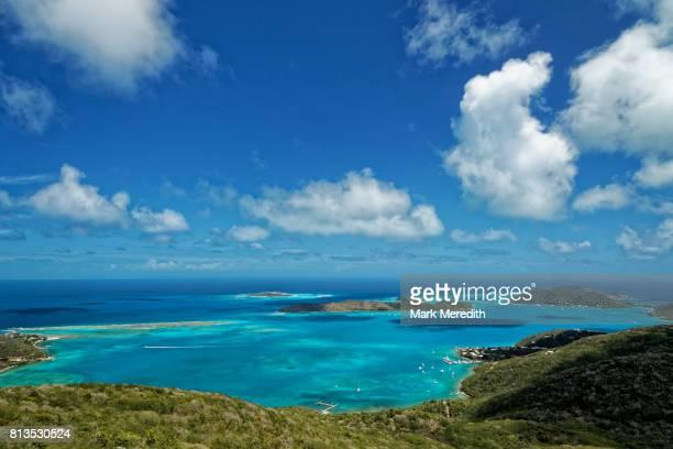 view from gorda peak national park, virgin gorda, british virgin islands - islas de virgin gorda fotografías e imágenes de stock