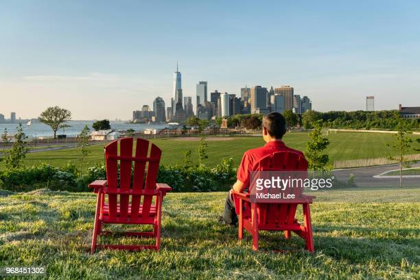 view from governors island - new york - governors island stock pictures, royalty-free photos & images