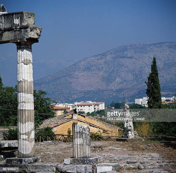 View from Hadrian's Villa Tivoli Rome Italy