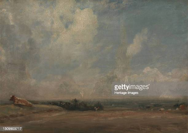 View from Hampstead Heath ;The Thames Valley from Hampstead Heath, ca. 1825. Artist John Constable. .