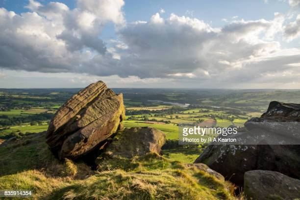View from Hen Cloud, The Roaches, Peak District, Staffordshire