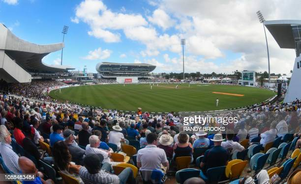 A view from Hewitt and Inniss stand during day 3 of the 1st Test between West Indies and England at Kensington Oval Bridgetown Barbados on January 25...