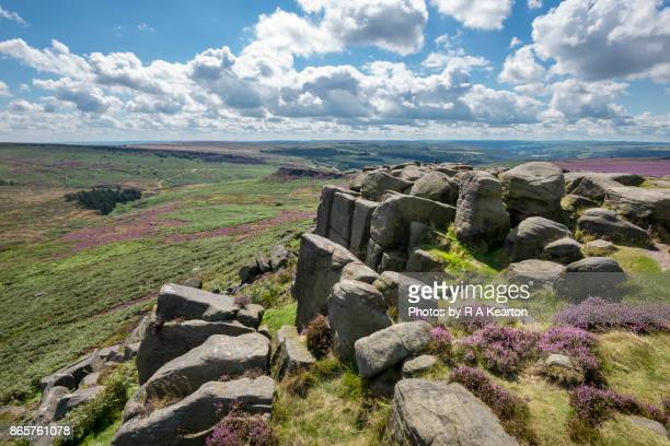 View from Higger Tor in the Peak District national park, Derbyshire, England