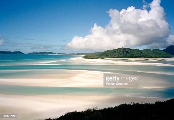 View from high up across Whitehaven Beach, Australia