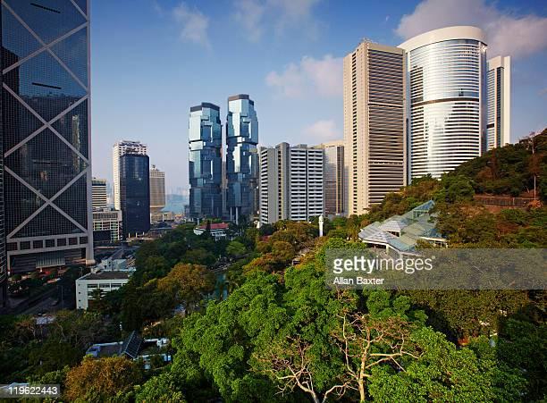 View from 'Hong Kong Park' at midday