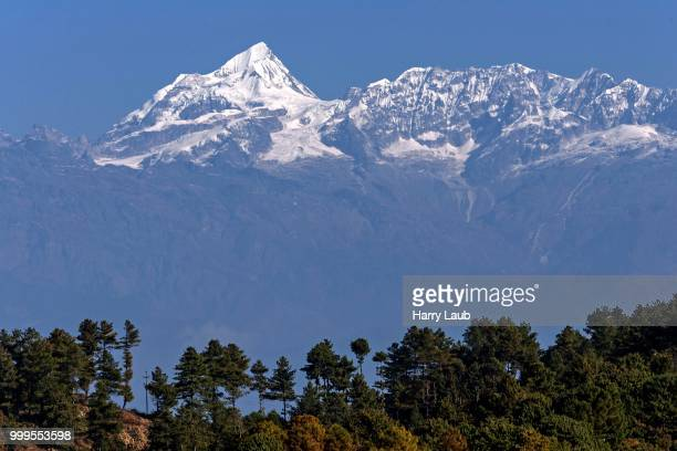 View from hotel Himalaya Club on the mountains of the Himalayas, Nagarkot, Nepal