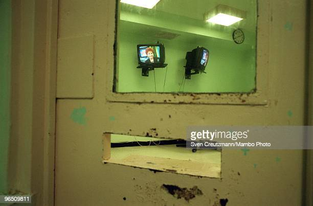 View from inside the cell of the Miami Women Detention Center in which Gregory Hemingway died on September 24 in Miami USA Gregory Hemingway son of...