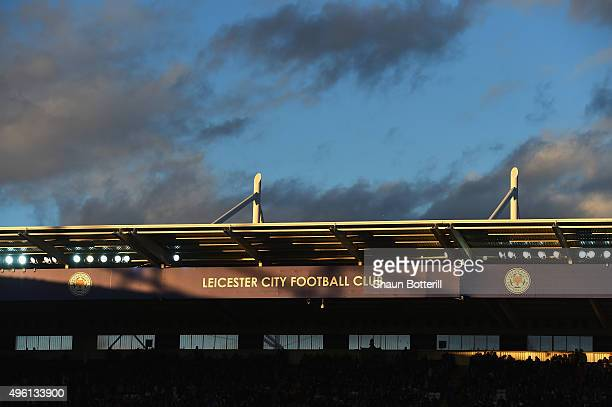 A view from inside the stadium during the Barclays Premier League match between Leicester City and Watford at The King Power Stadium on November 7...