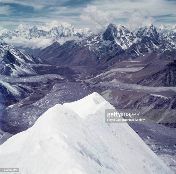 View from Island Peak during the first ascent Nepal March 1953 Mount Everest Expedition 1953
