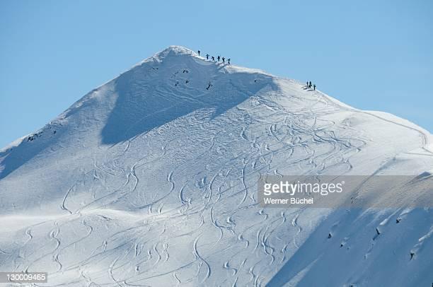 view from jakobshorn - davos stock-fotos und bilder