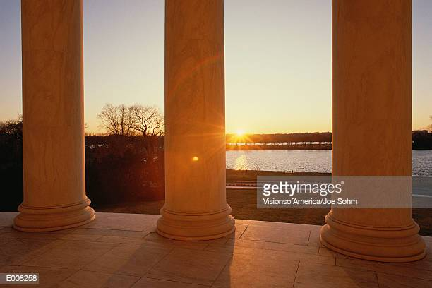 View from Jefferson Memorial at sunset