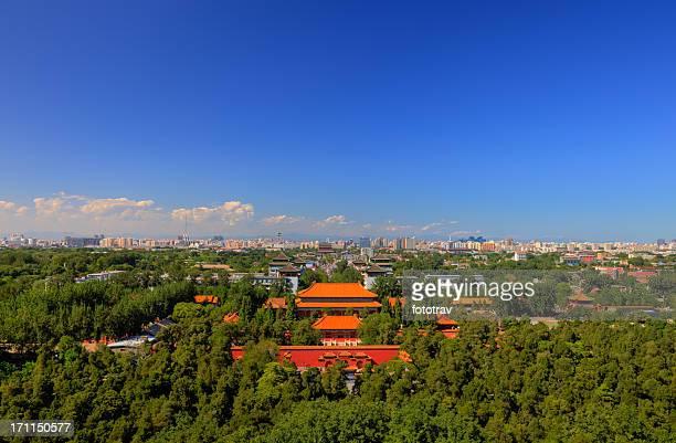 View from Jinshan Park, Beijing, China